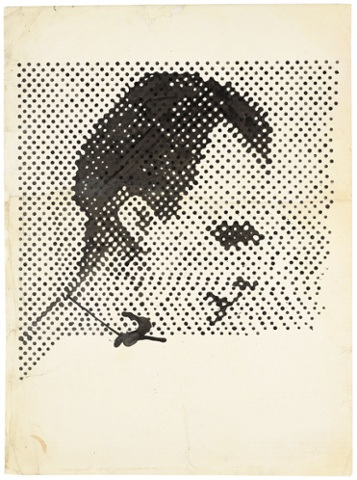 Raster Drawing (Portrait of Lee Harvey Oswald)/ Rasterzeichnung (Porträt Lee Harvey Oswald), 1963.