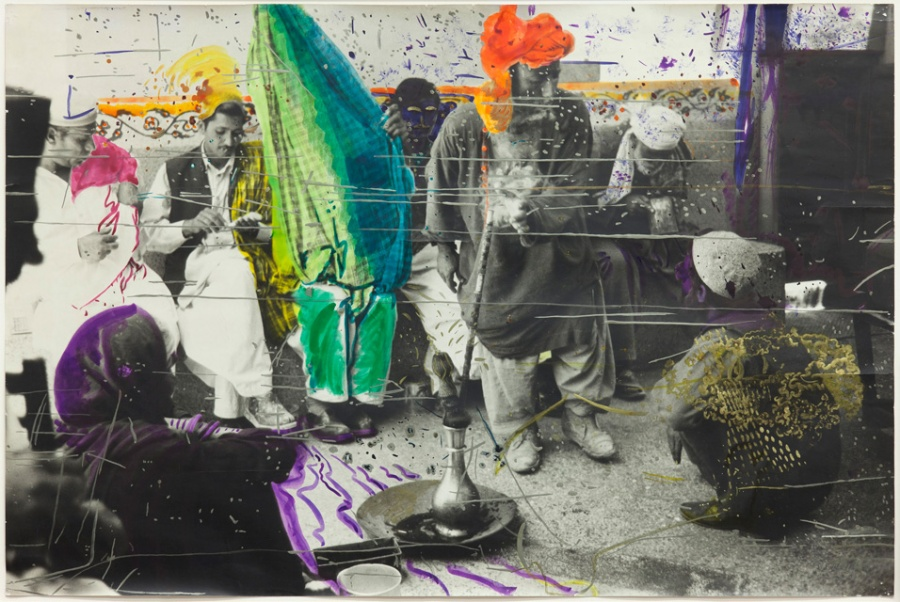 Sigmar Polke (German, 1941–2010). Untitled (Quetta, Pakistan). 1974-1978. Watercolor and pen on gelatin silver print