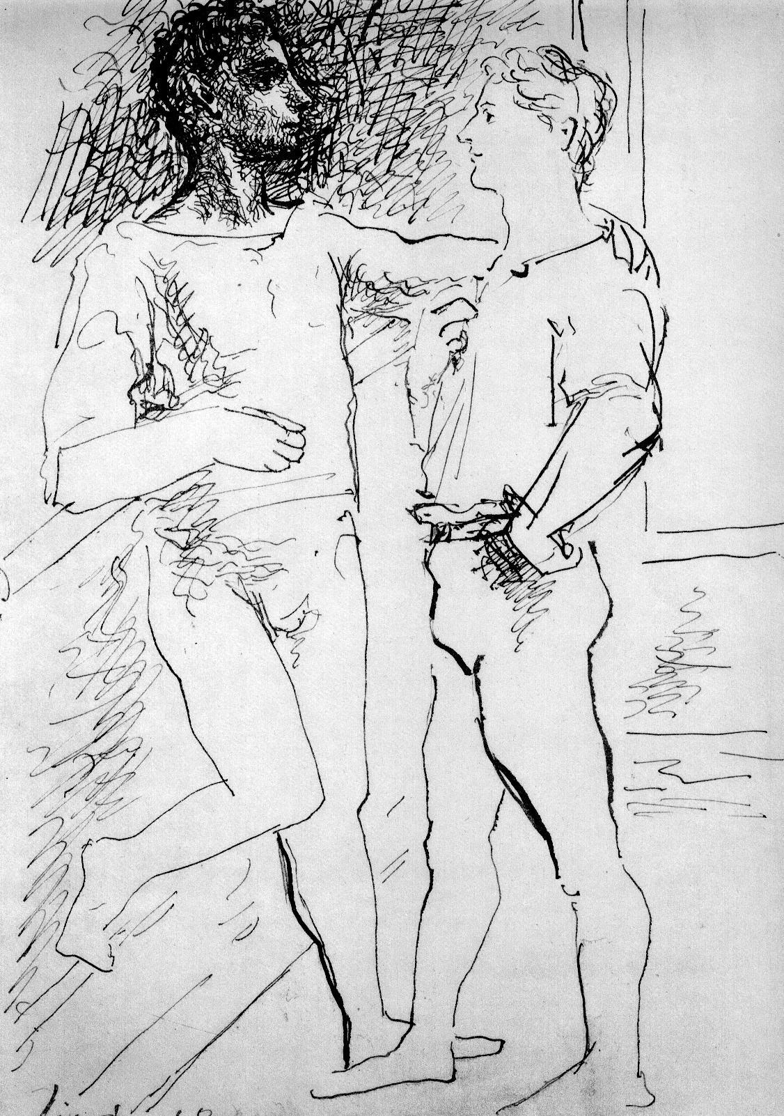 Pablo Picasso.,Belen,Madrid,Worldpride,orgullo,bailarin,male,dancer,gravados,drawings,cafe,bar,chueca