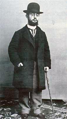 Henri de Toulouse-Lautrec, photo en pieds par Paul Sescau, 1894. Musée,Toulouse-Lautrec, Albi,