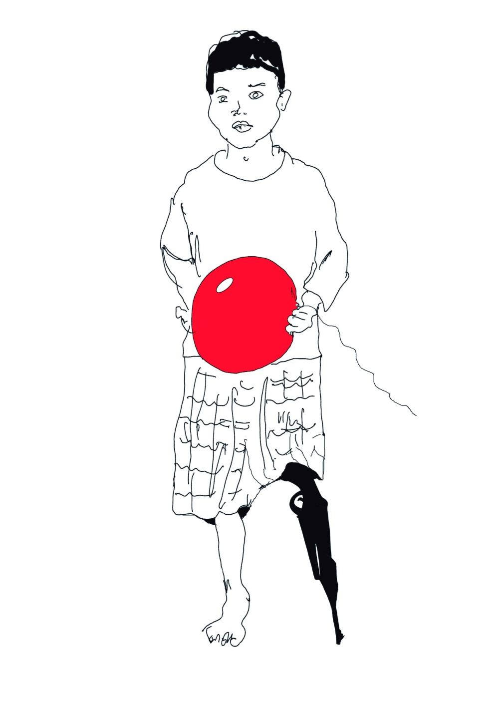 garbade,bronsky,niño,globo,balon,mutilado,guerra,ateneo de madrid
