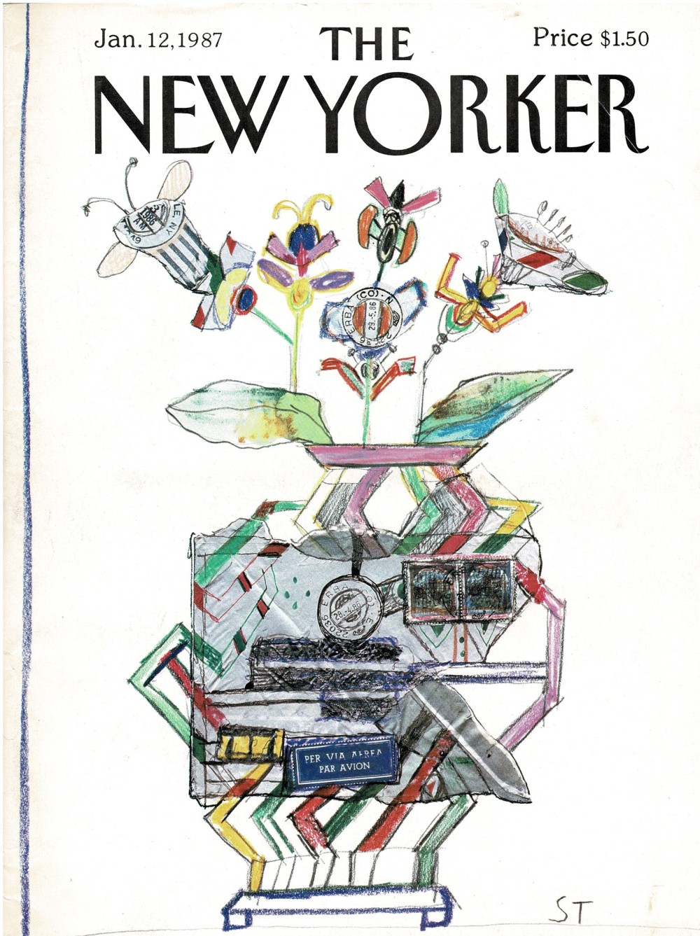 the new yorker,ochenta,saul steinberg, belen artspace,madrid