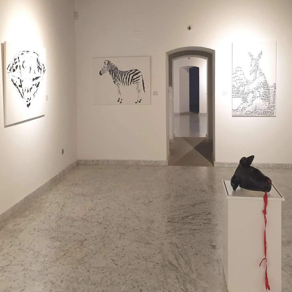 garbade,exposicion,toledo,paintings,galeria,museum,san clemente,armas y almas,centro cultural,cebra, caza,vegan,toros,antitoros,diamante