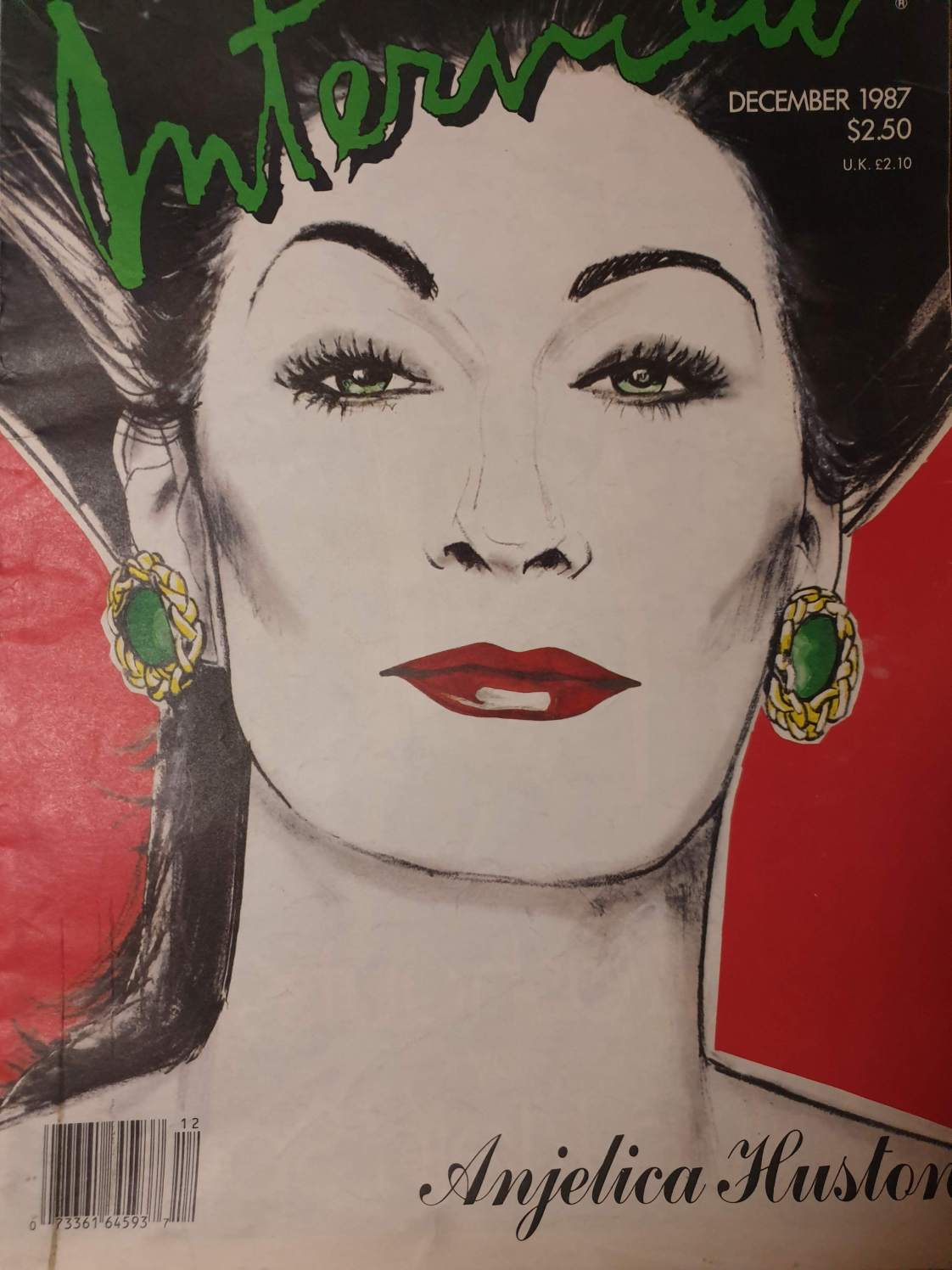 Angelica Huston,Interview,Andy warhol,belenartspace,madrid,cover,portada,Richard Bernstein