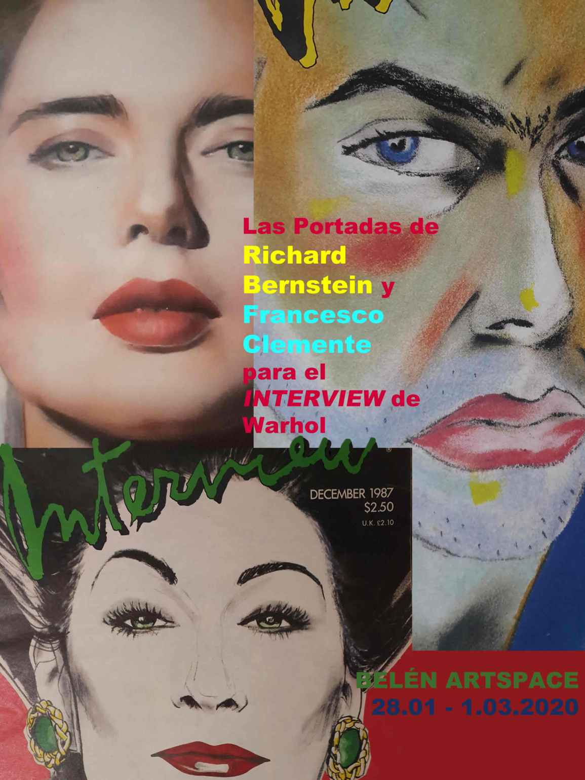 Richard Bernstein,Francesco Clemente,covers,,Andy Warhol´s Interview,Belenartspace,popart,